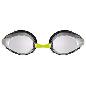 arena Tracks Jr Mirror - Lunettes de natation Enfant - jaune/gris